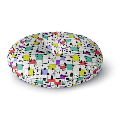 Julia Grifol My Happy Squares Round Floor Pillow Size: 23 x 23