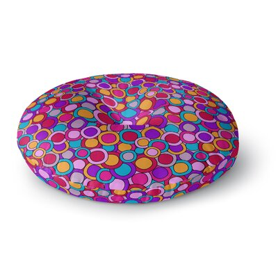 Julia Grifol My Colourful Circles Round Floor Pillow Size: 26 x 26