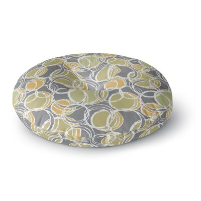 Julia Grifol Simple Circles Round Floor Pillow Size: 26 x 26, Color: Gray