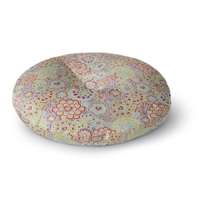 Julia Grifol My Happy Flowers Round Floor Pillow Size: 23 x 23