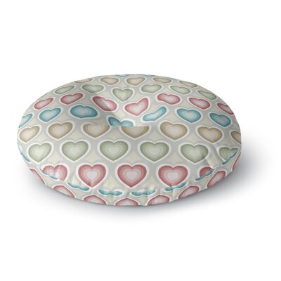 Julia Grifol My Hearts Round Floor Pillow Size: 23 x 23