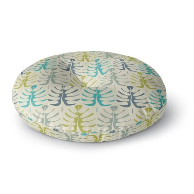 Julia Grifol My Leaves Round Floor Pillow Size: 26 x 26, Color: Teal Green