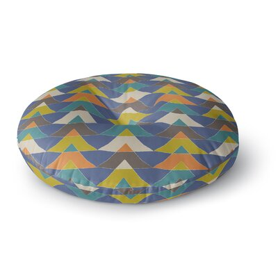 Julia Grifol Colorful Triangles Round Floor Pillow Size: 26 x 26