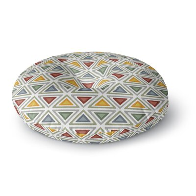 Julia Grifol Ikat Triangles Round Floor Pillow Size: 23 x 23