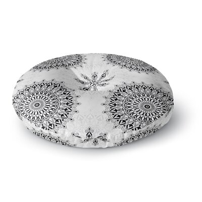 Julia Grifol Mandala Round Floor Pillow Size: 26 x 26, Color: Black