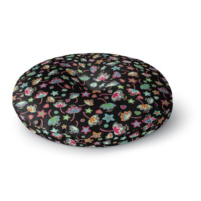 Julia Grifol Sweet Flowers Round Floor Pillow Size: 26 x 26