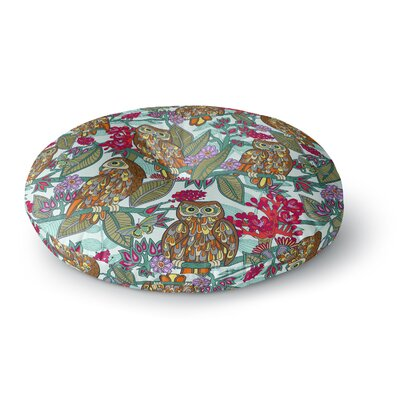 Julia Grifol My Bookbooks Owls Round Floor Pillow Size: 26 x 26