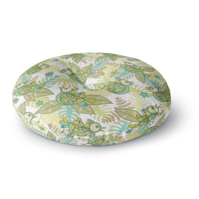 Julia Grifol Summer Birds Round Floor Pillow Size: 26 x 26