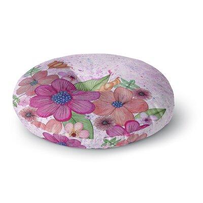 Julia Grifol My Garden Floral Round Floor Pillow Size: 26 x 26