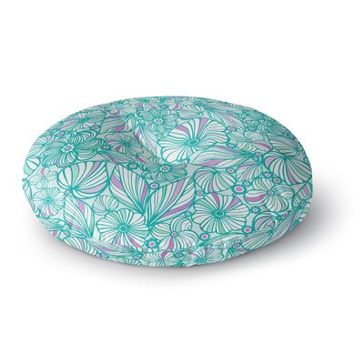 Julia Grifol My Flowers Round Floor Pillow Size: 26 x 26