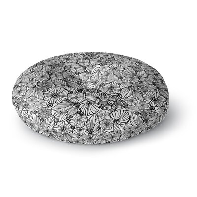 Julia Grifol Candy Flowers Round Floor Pillow Size: 26 x 26