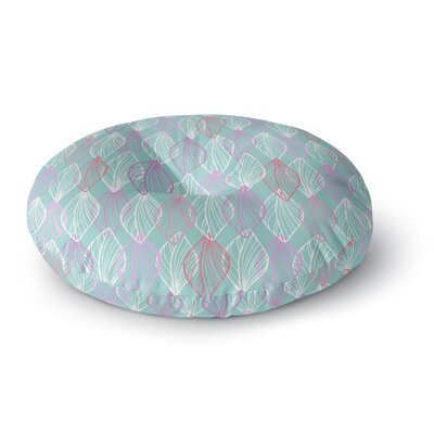 Julia Grifol My Leaves Round Floor Pillow Size: 26 x 26