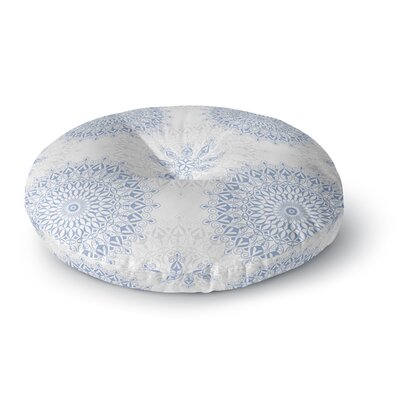 Julia Grifol Mandala Round Floor Pillow Size: 26 x 26, Color: Blue