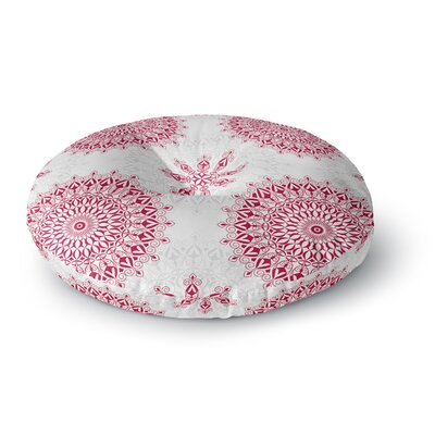 Julia Grifol Mandala Round Floor Pillow Size: 23 x 23, Color: Red