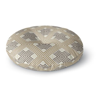 Julia Grifol Geometries Geometric Round Floor Pillow Size: 23 x 23