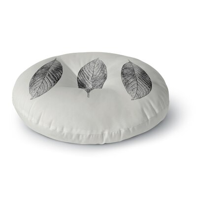 Julia Grifol Three Leaves Round Floor Pillow Size: 26 x 26
