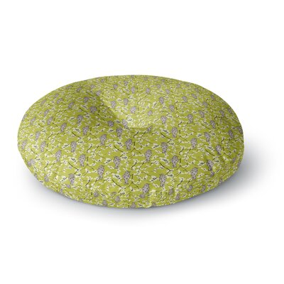 Julie Hamilton Blossom Bird Round Floor Pillow Size: 26