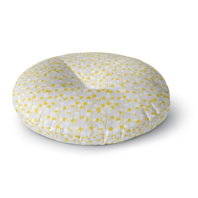 Julie Hamilton Lemon Drop Round Floor Pillow Size: 23 x 23