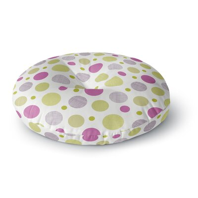 Julie Hamilton Rhapsody Dot Round Floor Pillow Size: 23 x 23