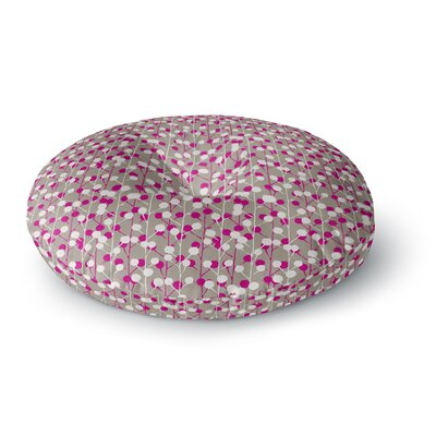 Julie Hamilton Wineberry Round Floor Pillow Size: 23 x 23
