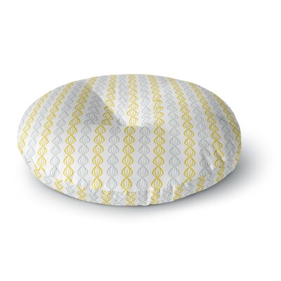 Julie Hamilton Lemon Pod Round Floor Pillow Size: 23 x 23, Color: Yellow