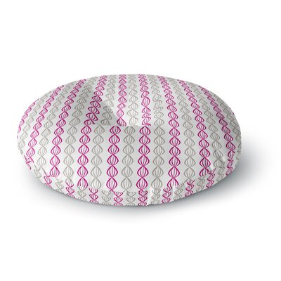 Julie Hamilton Lemon Pod Round Floor Pillow Size: 23 x 23, Color: Gray