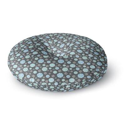 Julie Hamilton Midnight Snow Winter Round Floor Pillow Size: 23 x 23, Color: Gray