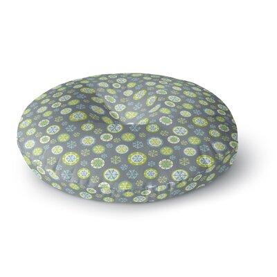 Julie Hamilton Snowflake Slate Round Floor Pillow Size: 23 x 23