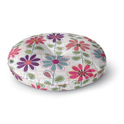 Jolene Heckman Fall Flowers Round Floor Pillow Size: 23 x 23