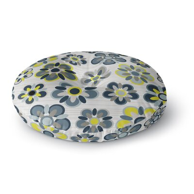 Jolene Heckman Folksy Round Floor Pillow Size: 23 x 23, Color: Blue