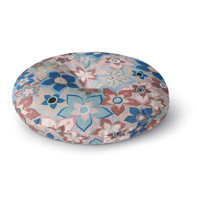 Jolene Heckman Marsala Floral Mix Round Floor Pillow Size: 26 x 26