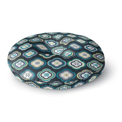 Jolene Heckman Graphic Floral Round Floor Pillow Size: 26 x 26