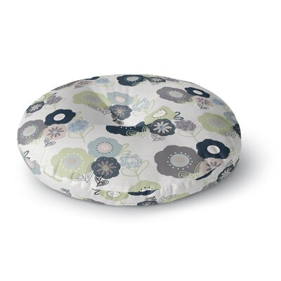 Jolene Heckman Floral Bunches Round Floor Pillow Size: 26 x 26