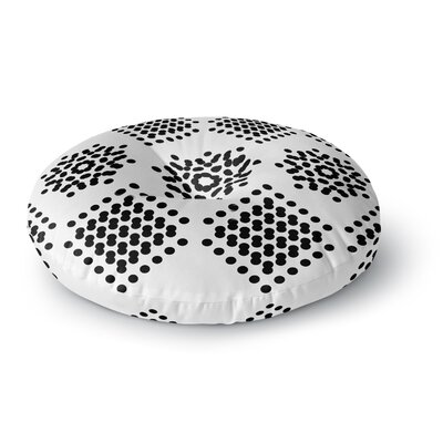 Tiny September Dot Party Digital Round Floor Pillow Size: 26 x 26