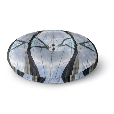 Tiny September Butterfly Glass Photography Round Floor Pillow Size: 23 x 23