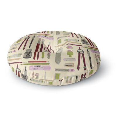 Judith Loske Art Supplies Round Floor Pillow Size: 23 x 23