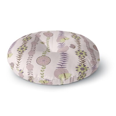 Judith Loske Flower Round Floor Pillow Size: 26 x 26, Color: Purple