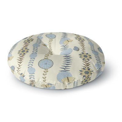 Judith Loske Flower Round Floor Pillow Size: 23 x 23, Color: Blue