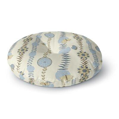 Judith Loske Flower Round Floor Pillow Size: 26 x 26, Color: Blue