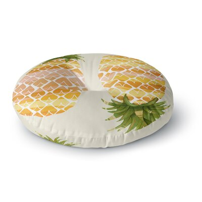 Judith Loske Happy Pineapples Round Floor Pillow Size: 26 x 26
