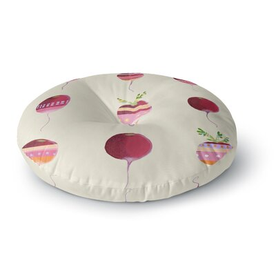 Judith Loske Happy Radishes Round Floor Pillow Size: 26 x 26
