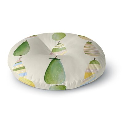 Judith Loske Happy Pears Round Floor Pillow Size: 26 x 26
