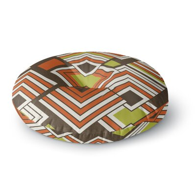 Jacqueline Milton Luca Coffee Round Floor Pillow Size: 26 x 26, Color: Brown/Orange