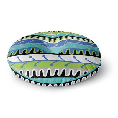 Jacqueline Milton Salsa Round Floor Pillow Size: 26 x 26, Color: Blue