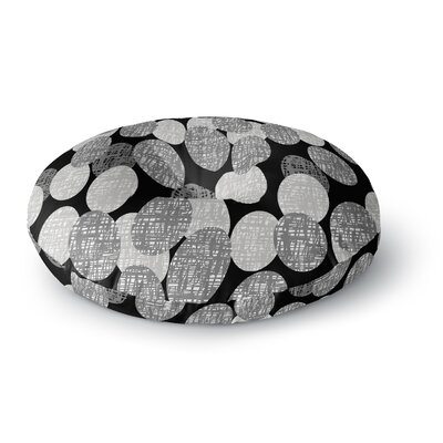 Jacqueline Milton Seeds Monochrome Round Floor Pillow Size: 23 x 23