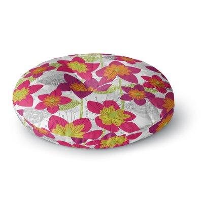 Jacqueline Milton Star Flower Floral Round Floor Pillow Size: 26 x 26