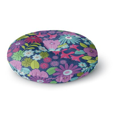 Jacqueline Milton Lula Round Floor Pillow Size: 26 x 26, Color: Purple/Blue