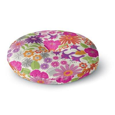Jacqueline Milton Lula Round Floor Pillow Size: 26 x 26, Color: Pink/White