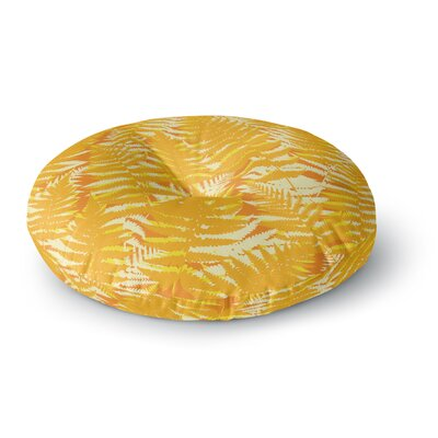 Jacqueline Milton Fun Fern Citrus Round Floor Pillow Size: 26 x 26, Color: Orange