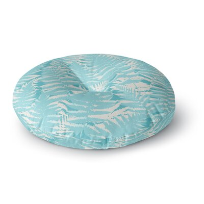 Jacqueline Milton Fun Fern Citrus Round Floor Pillow Size: 26 x 26, Color: Blue